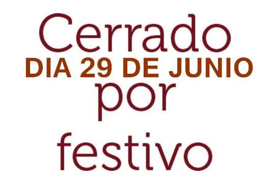 29 de junio festivo local