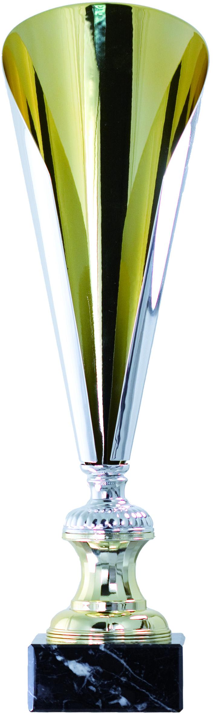 TROFEO TIPO COPA DE EUROPA EN METAL 50 cm